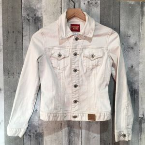 Guess White Denim Jean Jacket